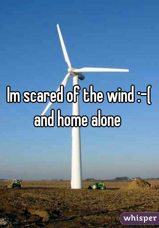 Im scared of the wind :-( and home alone
