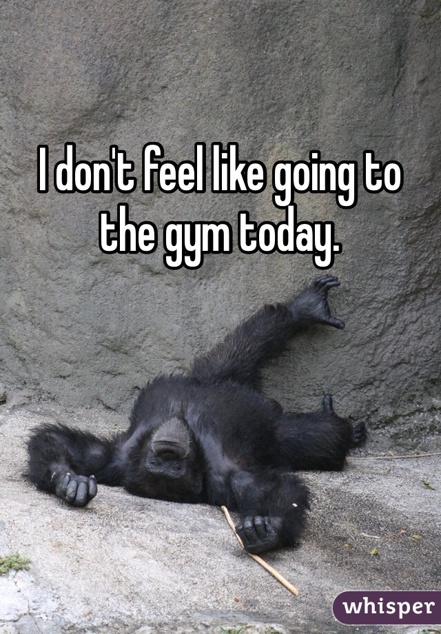 I don't feel like going to the gym today.