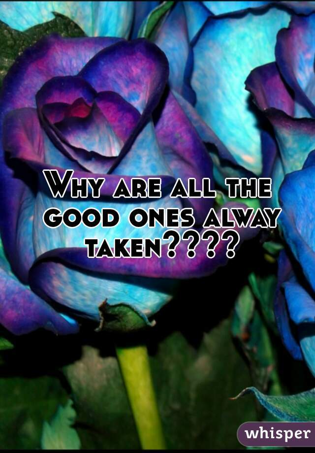 Why are all the good ones alway taken????