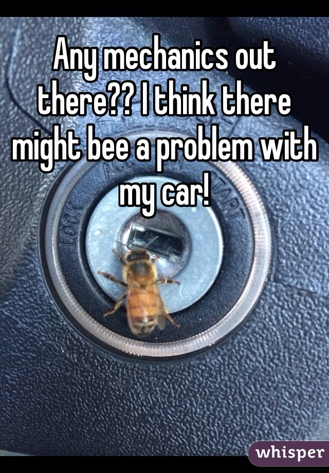 Any mechanics out there?? I think there might bee a problem with my car!