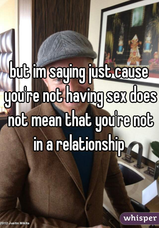 Having sex but not in a relationship