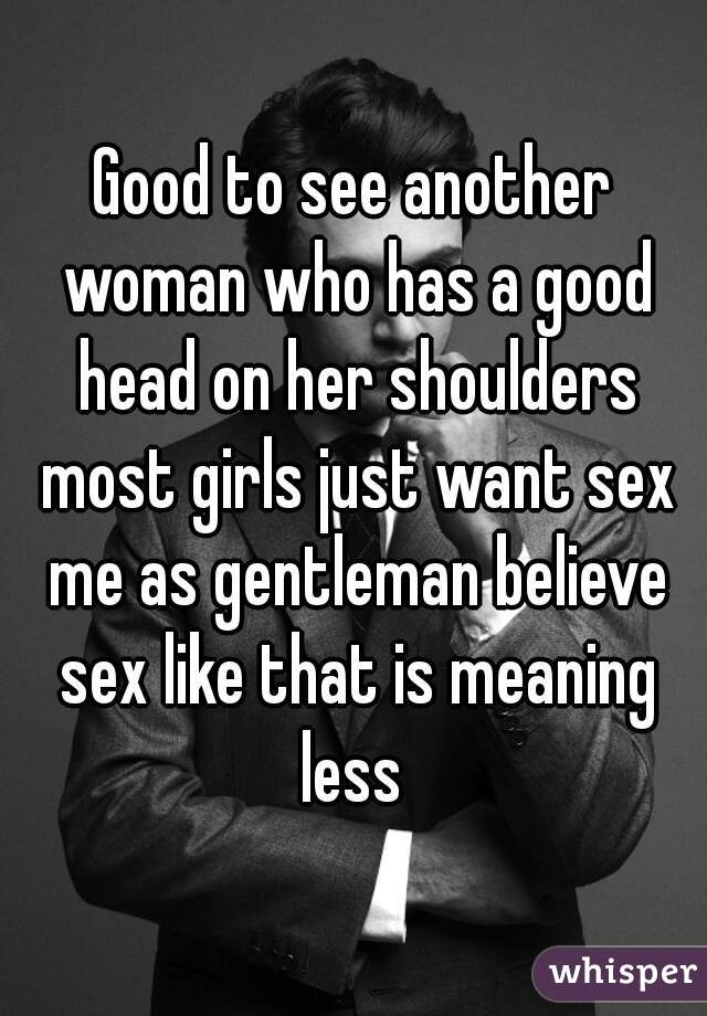 Meaning of like sex head