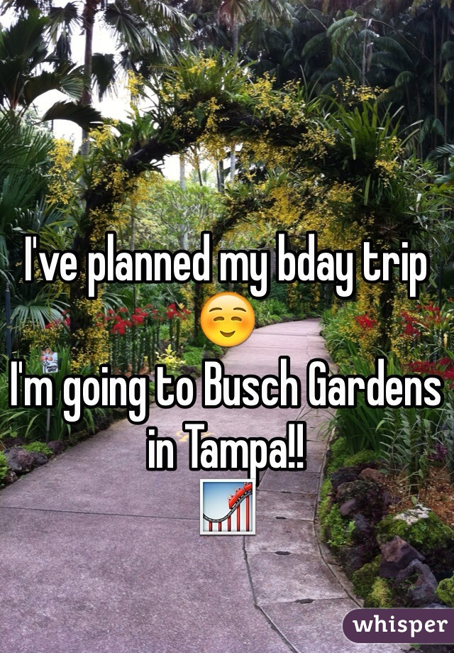 I've planned my bday trip ☺️ I'm going to Busch Gardens in Tampa!! 🎢