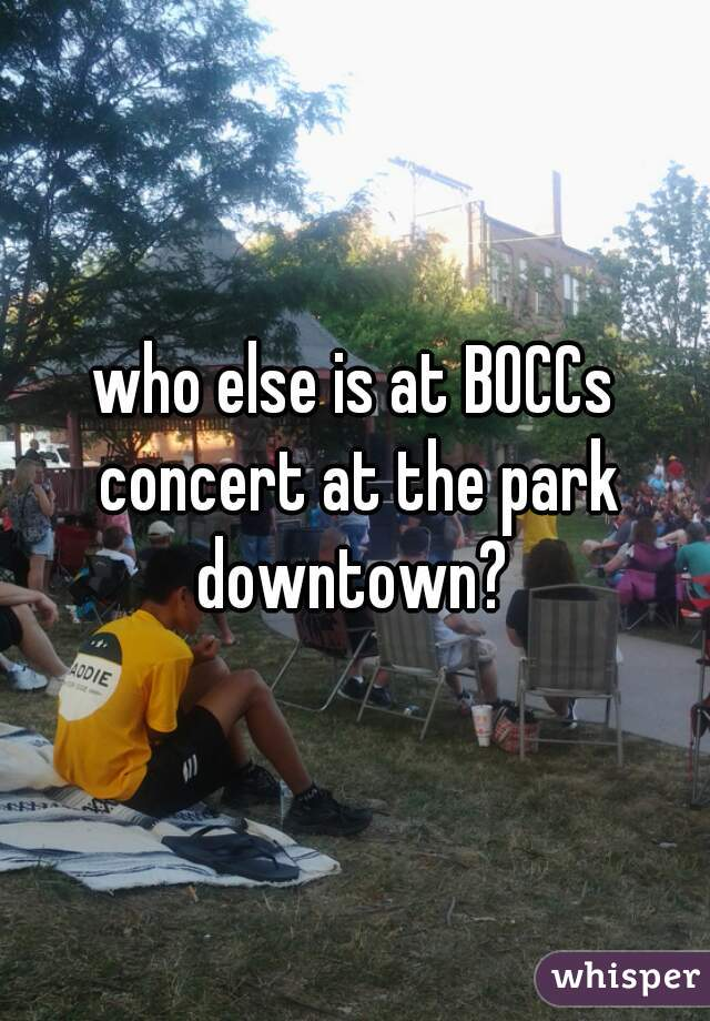 who else is at BOCCs concert at the park downtown?
