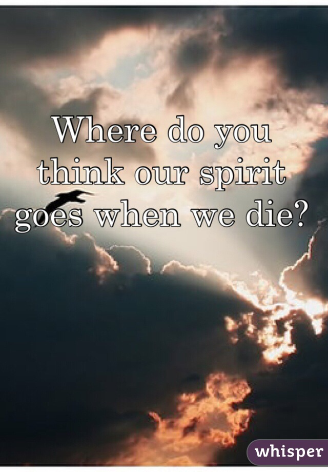 Where do you think our spirit goes when we die?