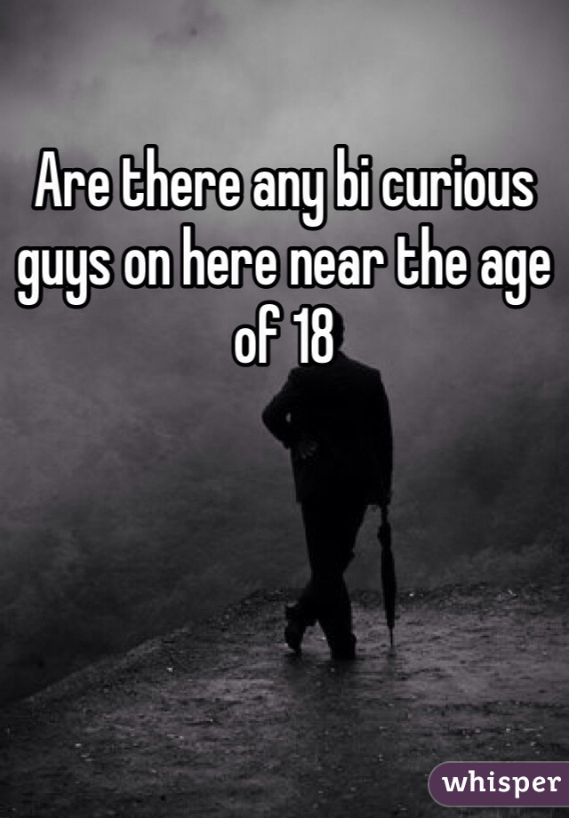 Are there any bi curious guys on here near the age of 18