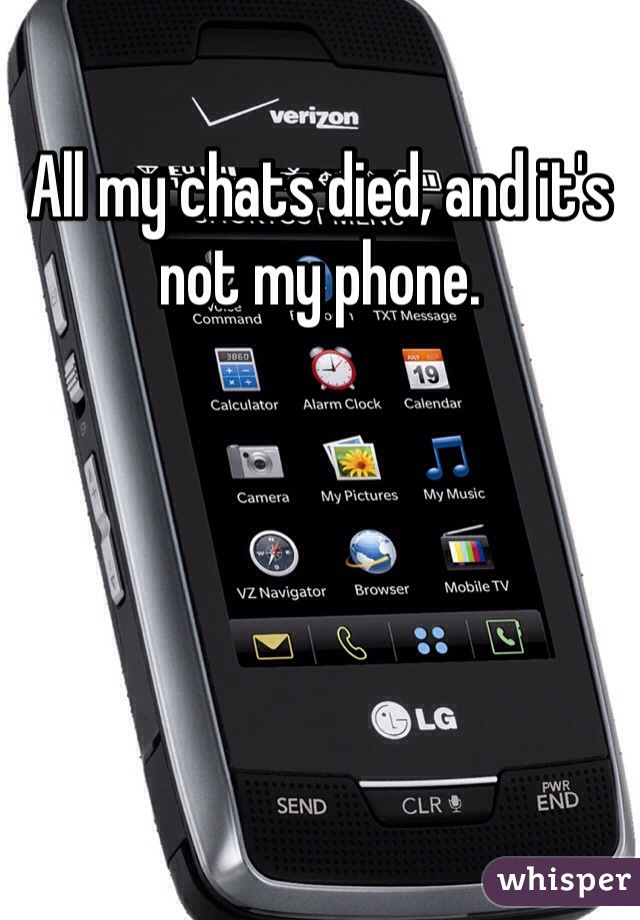 All my chats died, and it's not my phone.