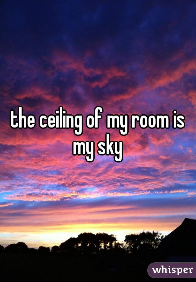 the ceiling of my room is my sky