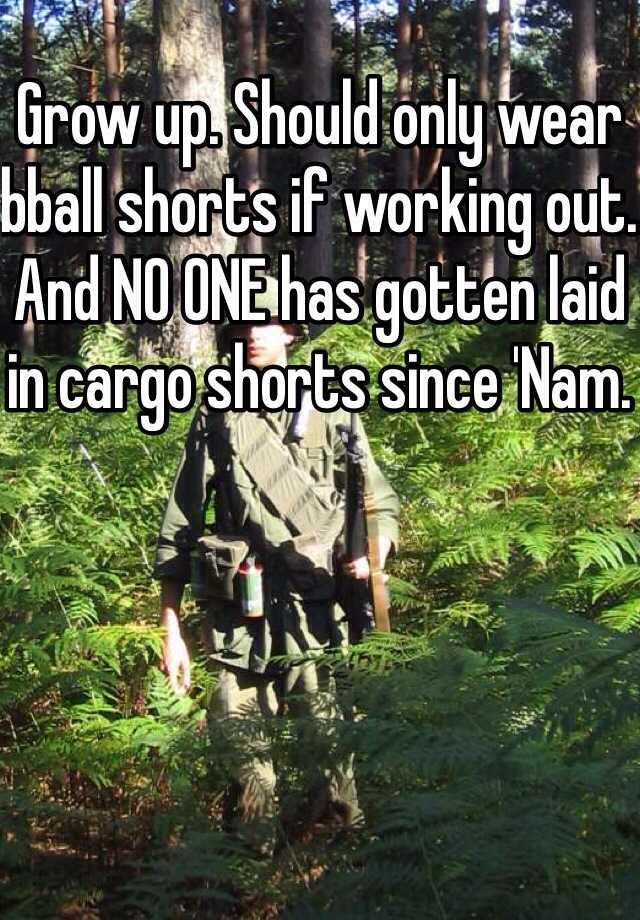 cargo shorts since nam