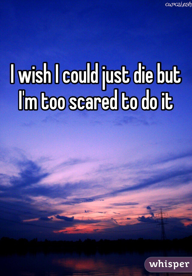 I wish I could just die but I'm too scared to do it