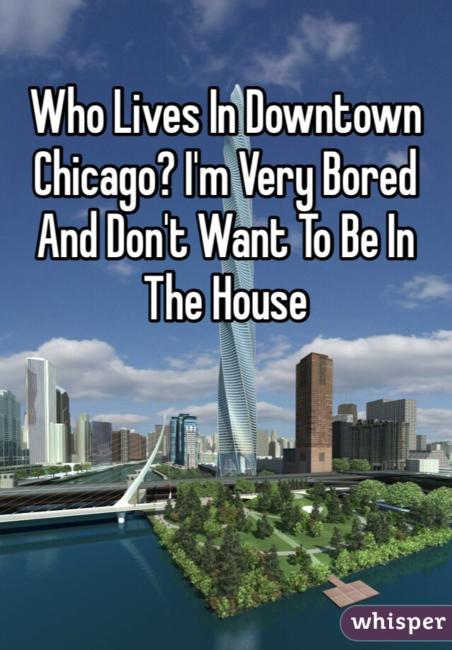 Who Lives In Downtown Chicago? I'm Very Bored And Don't Want To Be In The House