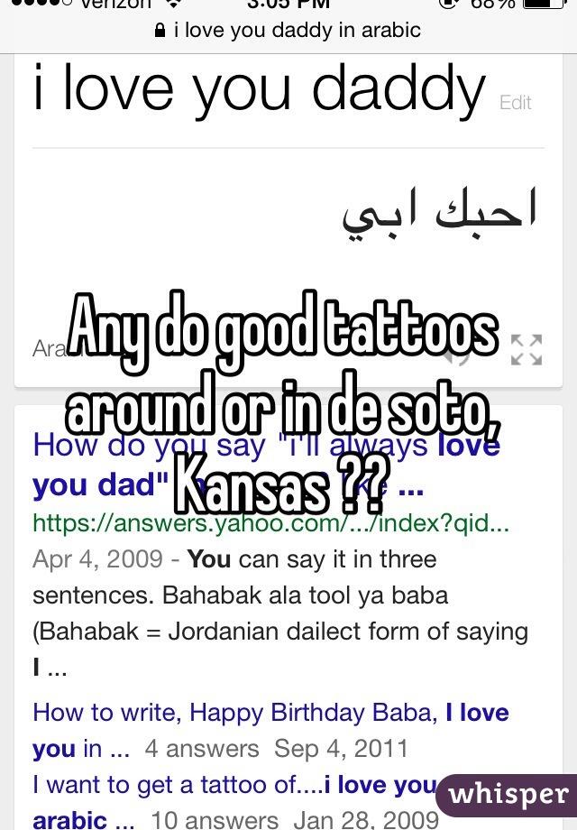 Any do good tattoos around or in de soto, Kansas ??