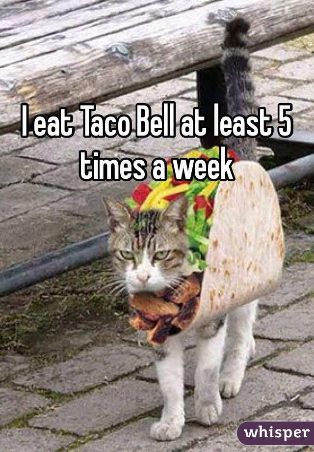 I eat Taco Bell at least 5 times a week
