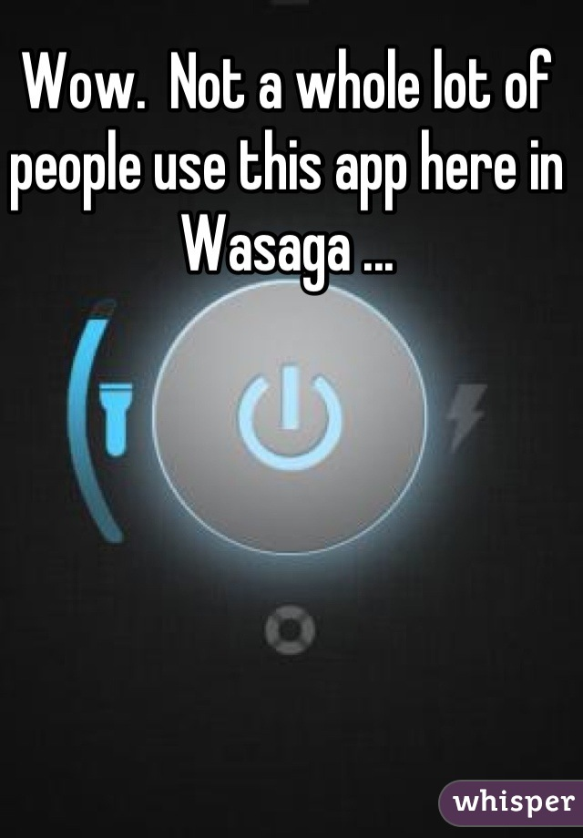 Wow.  Not a whole lot of people use this app here in Wasaga ...