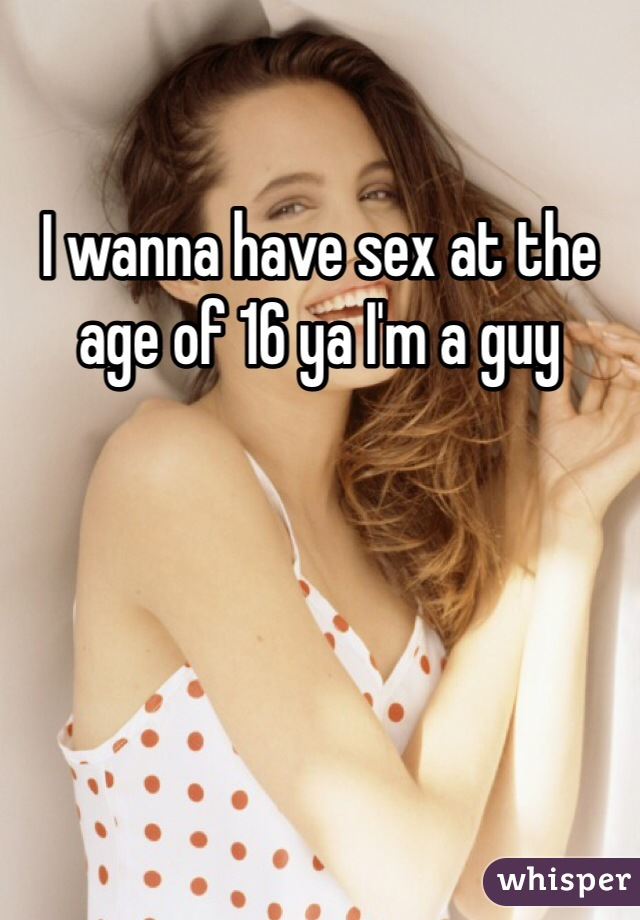 Sex at the age of 16