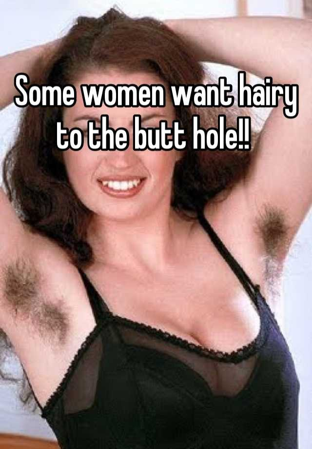Woman With Hairy Butt Hole