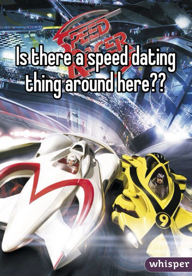 Is there a speed dating thing around here??