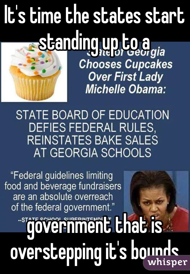 It's time the states start standing up to a        government that is overstepping it's bounds