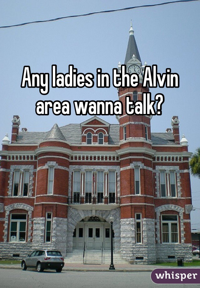 Any ladies in the Alvin area wanna talk?