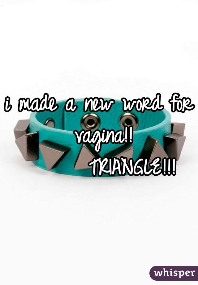 i made a new word for vagina!!          TRIANGLE!!!