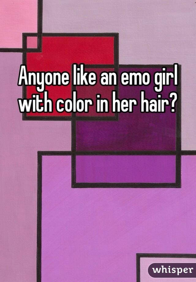 Anyone like an emo girl with color in her hair?