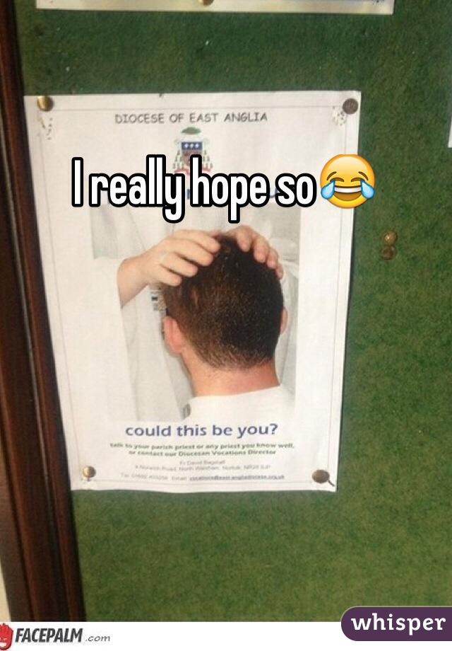 I really hope so😂