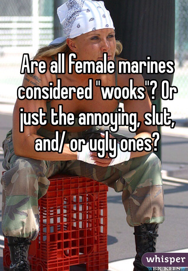 """Are all female marines considered """"wooks""""? Or just the annoying, slut, and/ or ugly ones?"""