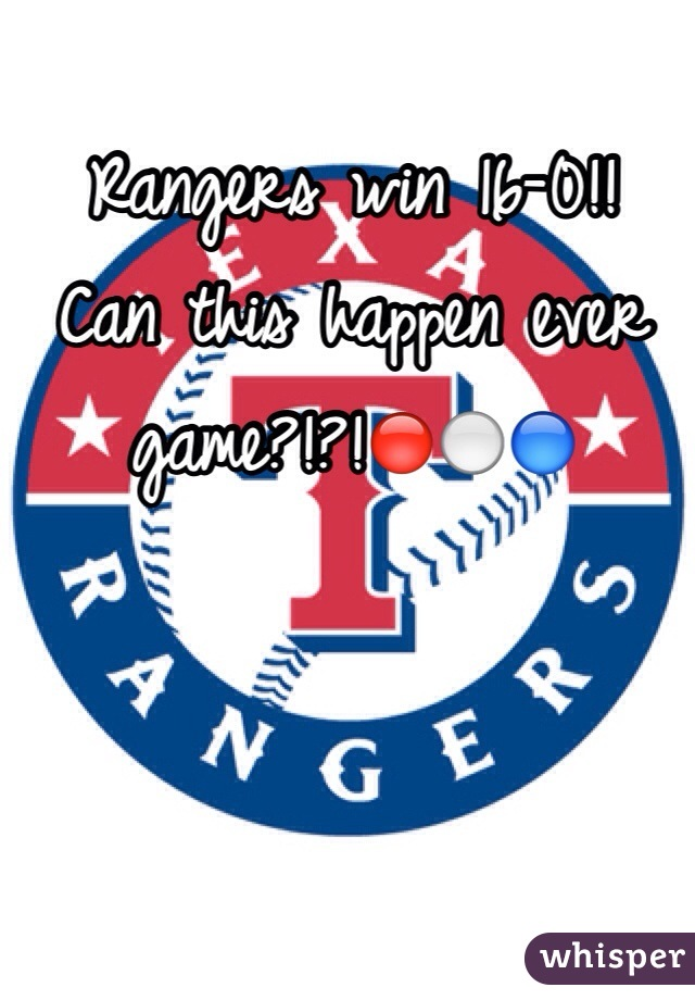 Rangers win 16-0!! Can this happen ever game?!?!🔴⚪️🔵