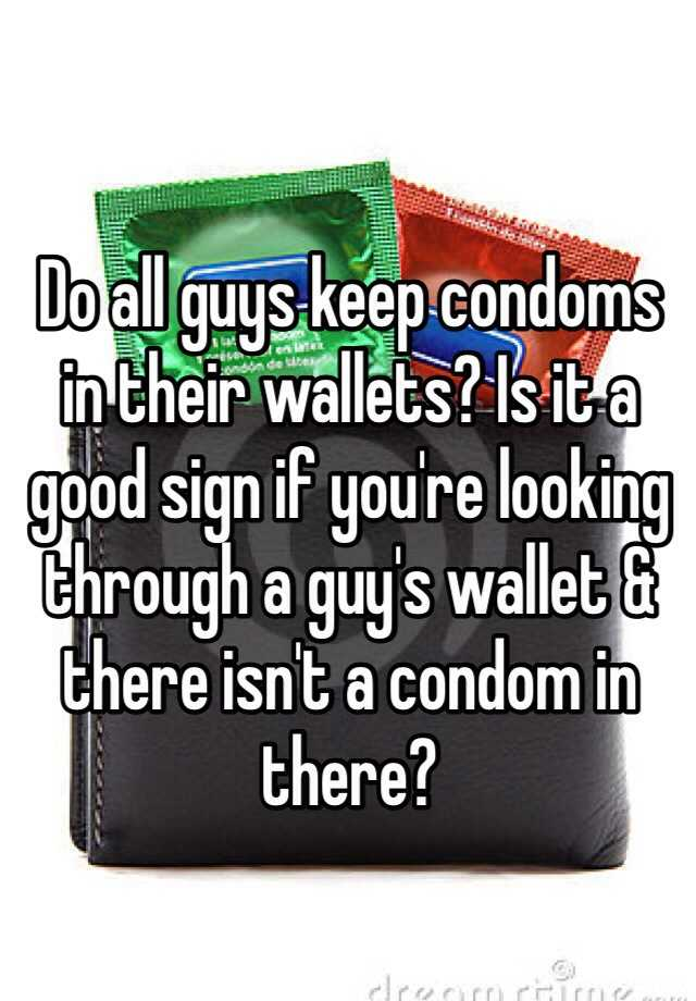 Condoms in wallets