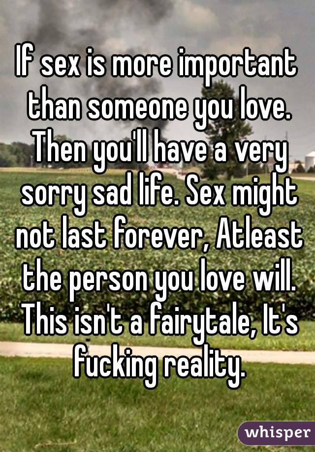 Любовь и затем секс