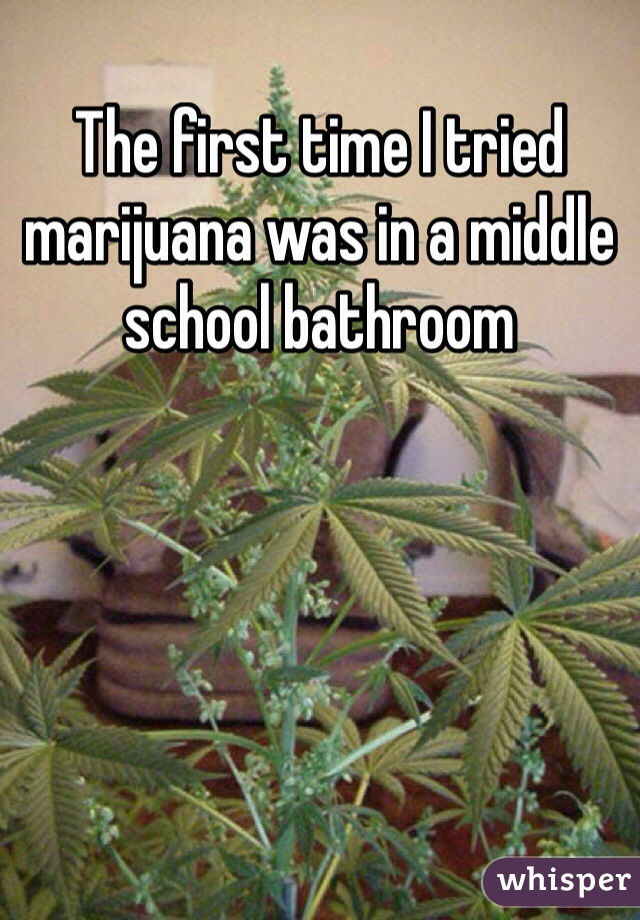 The first time I tried marijuana was in a middle school bathroom