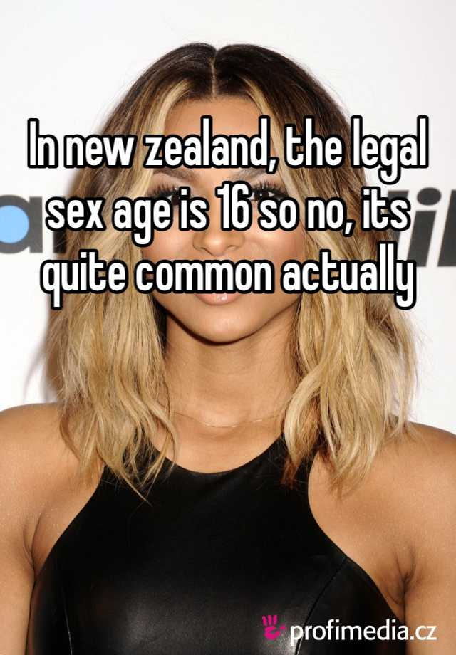 Sex legal age new zealand