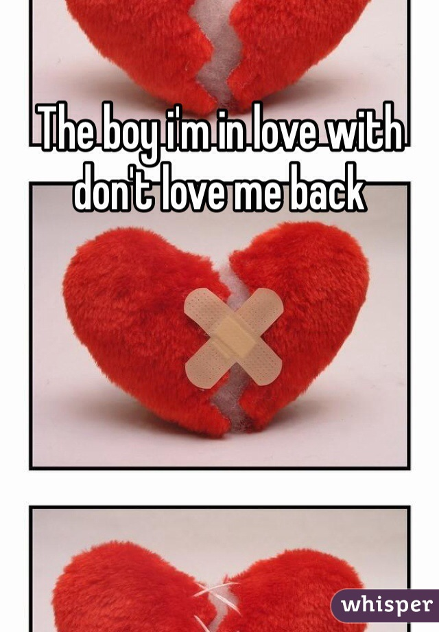 The boy i'm in love with don't love me back