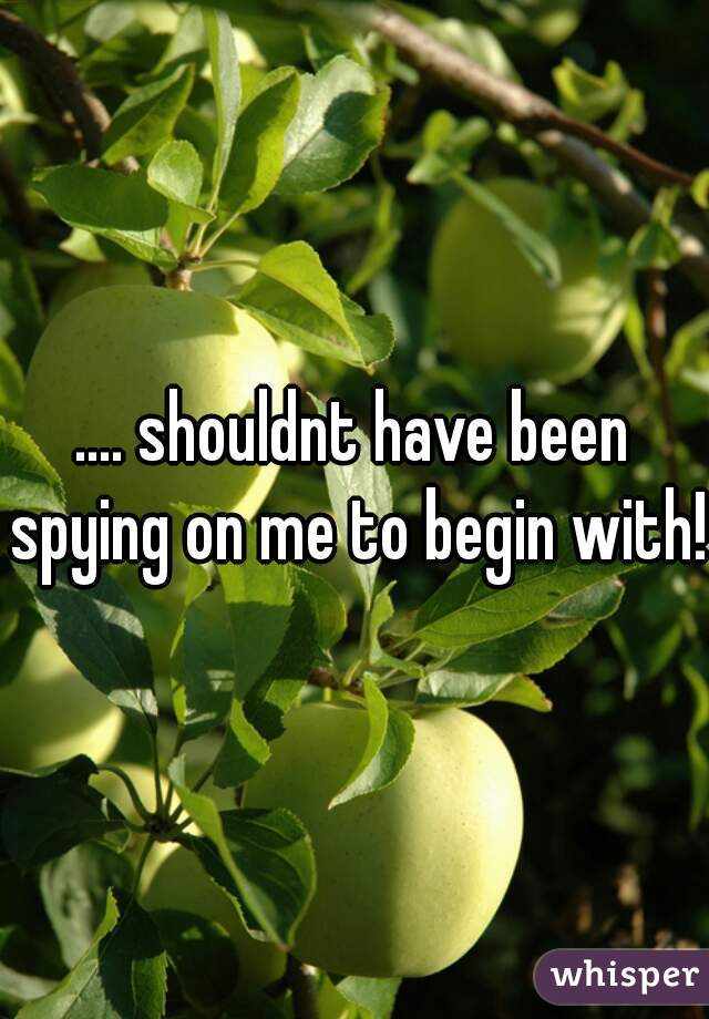 .... shouldnt have been spying on me to begin with!