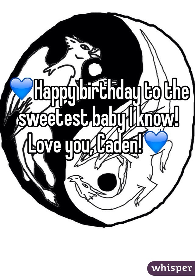💙Happy birthday to the sweetest baby I know! Love you, Caden!💙