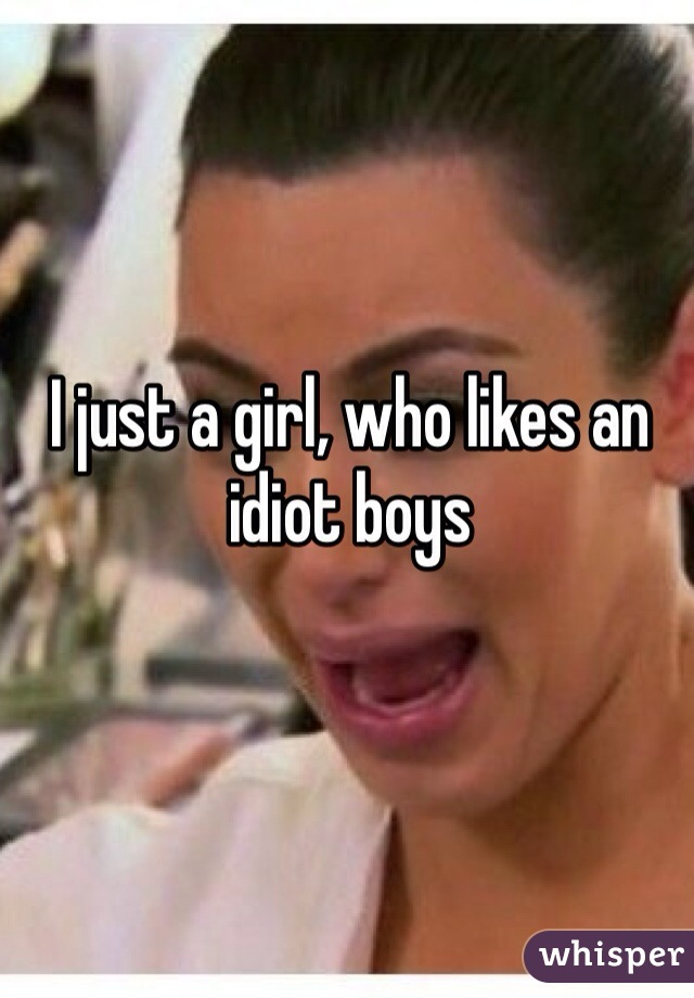 I just a girl, who likes an idiot boys