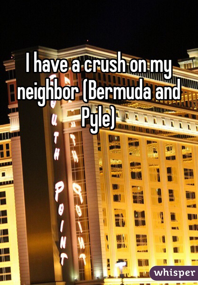 I have a crush on my neighbor (Bermuda and Pyle)