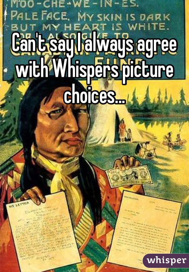 Can't say I always agree with Whispers picture choices...