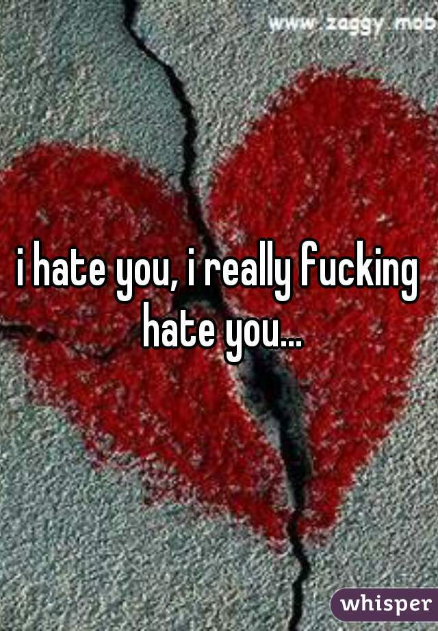 i hate you, i really fucking hate you...