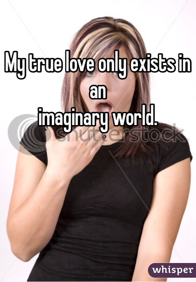 My true love only exists in an imaginary world.