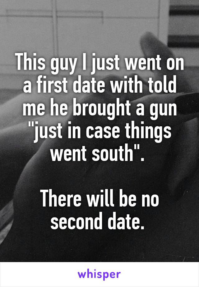 why no second date
