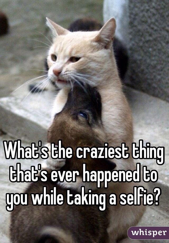 What's the craziest thing that's ever happened to you while taking a selfie?