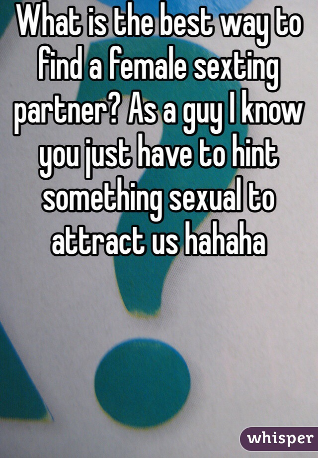 How to find sexting partners