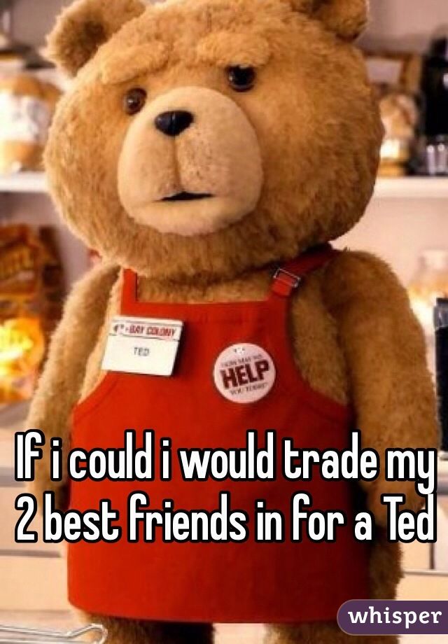 If i could i would trade my 2 best friends in for a Ted