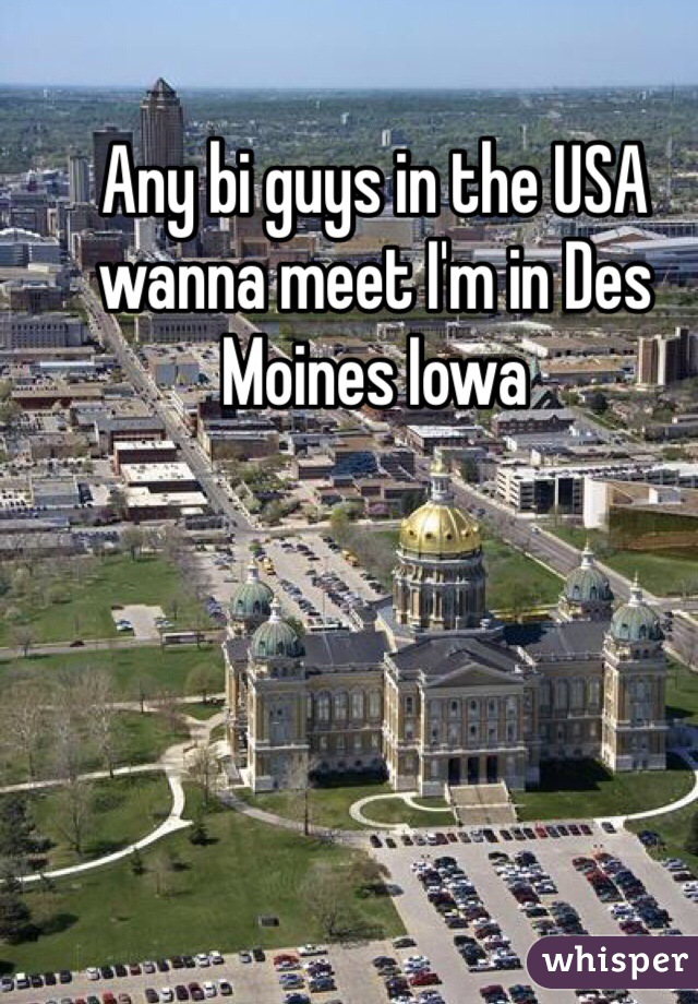 Any bi guys in the USA wanna meet I'm in Des Moines Iowa