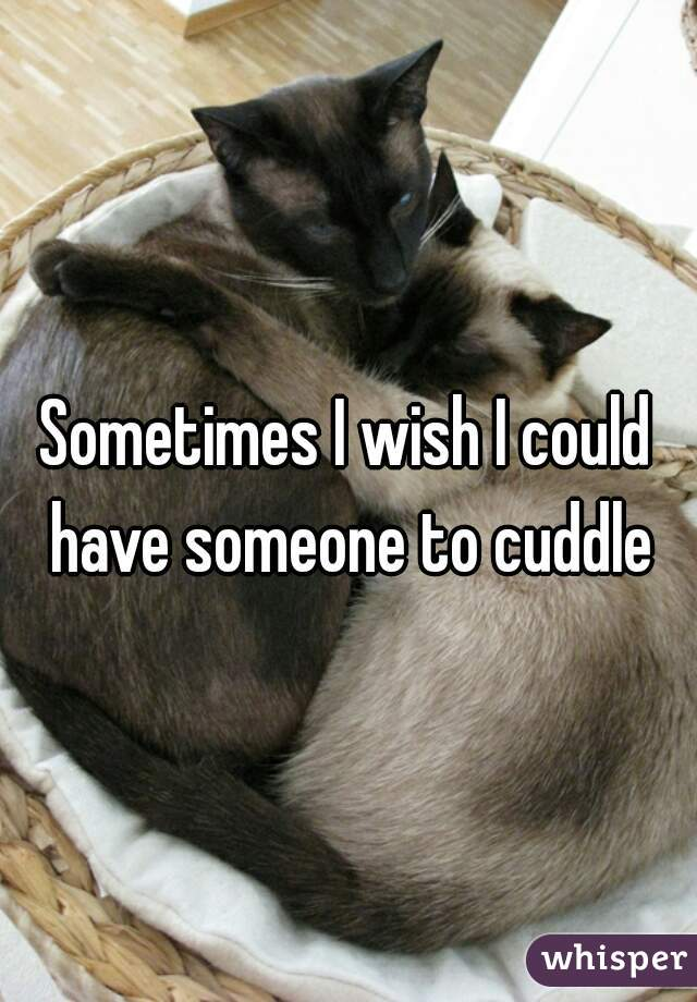 Sometimes I wish I could have someone to cuddle