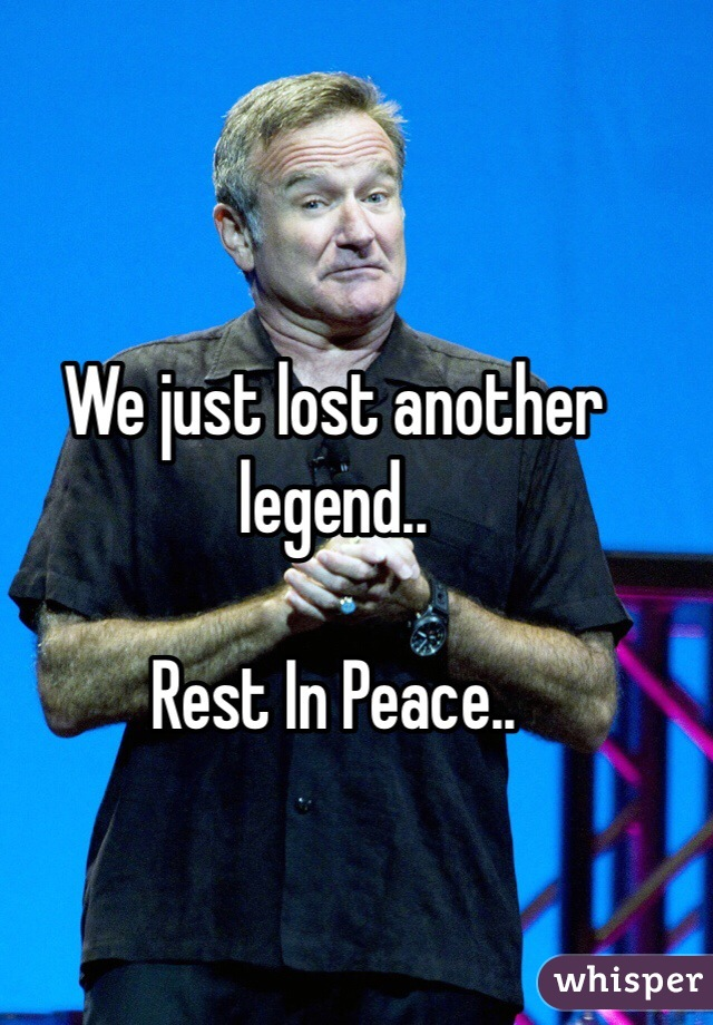We just lost another legend..  Rest In Peace..