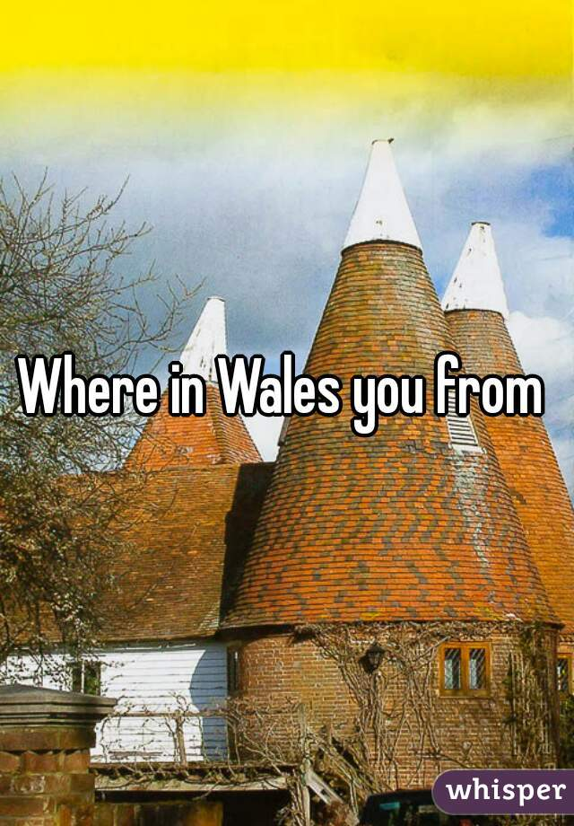 Where in Wales you from
