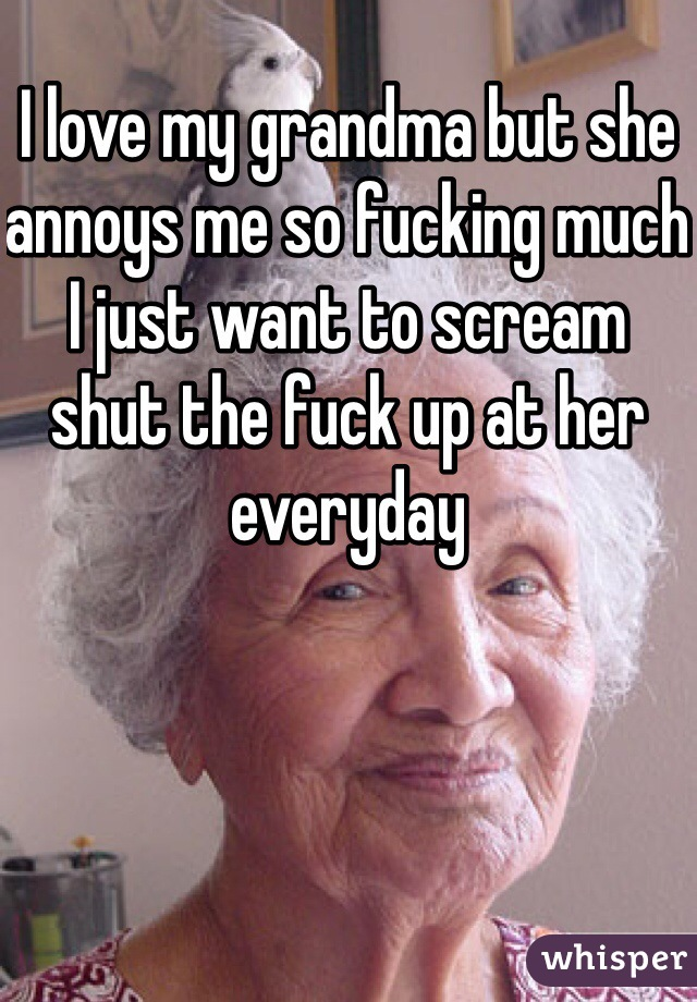I love fucking my grandma