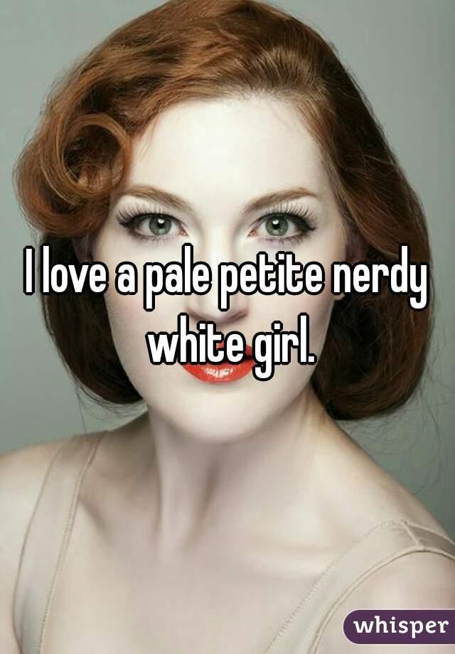 white girl Nerdy